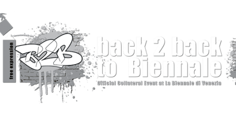 "Logo Design for the Official Collateral Event ""Back 2 Back to Biennale - © Tony Corocher"